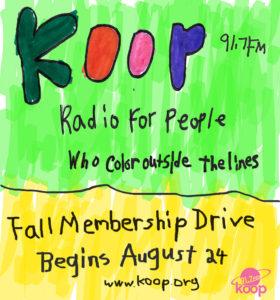 KOOP Membership Drive (Fall 2016)